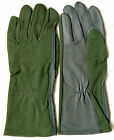 AVIATION FLIGHT FLYING PILOT STYLE RACING HEAT RESISTANCE SAGE GREEN GRAY GLOVES