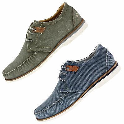 bugatti Herrenschuhe Textil Stoff Schuhe Halbschuhe Schnürschuhe 67601 blau grün | eBay
