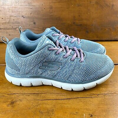 Pelmel cerrar Matemáticas  Skechers Women's Dual Lite Sneakers Size 7.5 Light Blue Memory Foam Air  Cooled | eBay