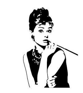 Das Bild Wird Geladen Audrey Hepburn Aufkleber Wandtattoo Sticker Heckscheibe Auto Spiegel