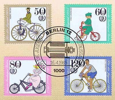 Berlin 1985: Fahrräder! Jugendmarken Nr. 735-738 Mit Ersttagsstempel! 1a! 1707 Den Speichel Auffrischen Und Bereichern