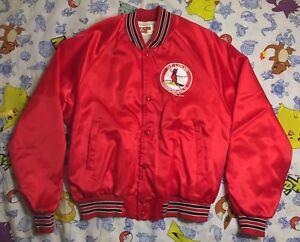 7df4dcd6 Details about Rare Vintage 1989 LOCKER LINE St. Louis Cardinals Satin  Varsity Jacket 80s