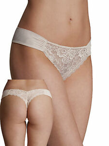 Ex-M-amp-S-Almond-Nude-Sweetheart-Rio-Stretch-Lace-Thong-Low-Rise