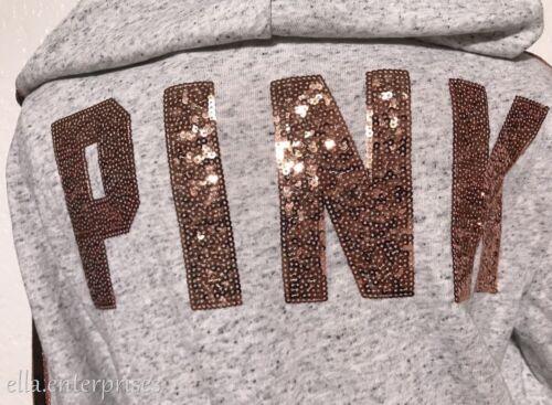 chiné Victoria's L Secret capuche noir rose zippée Veste parfaite à parfait or gris rose IwTUqwp