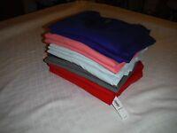 Old Navy Long Sleeve V-neck Light Women's T-shirts 2xl,xl,l,m,many Color 100% Co