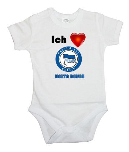 BABY BODY ICH LIEBE HERTA BERLIN BODYSUIT KURZARM LANGARM