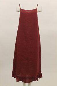749b4763b1 CHEYENNE WOMEN S SUMMER LINEN SPAGHETTI STRAP LONG DRESS RUFFLED HEM ...