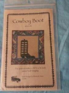 Details About Cowboy Boot Wall Quilt Pattern By Elizabeth Anne