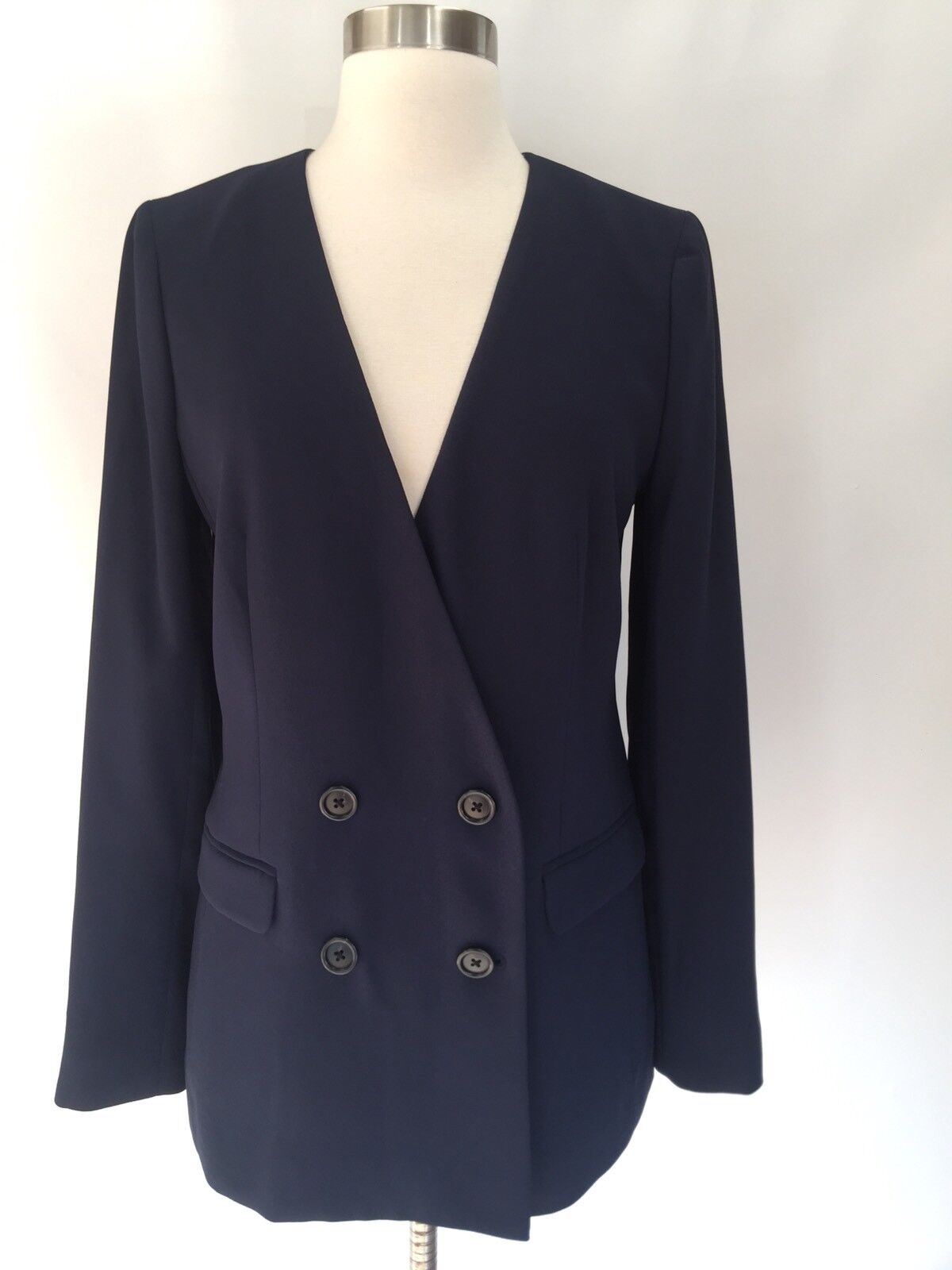 New JCREW French girl blazer in 365 crepe Navy bluee Size 4 H6285