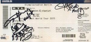Acdc Angus Young Mit Devil Autogramme Signed Ticket Berlin 2015