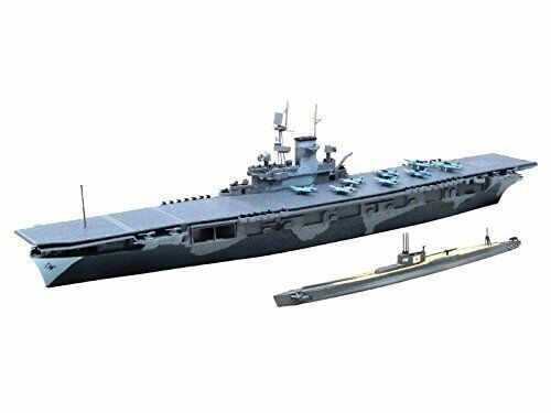 Aoshima U.S. Aircraft Carrier WASP & I.J.N Submarine I-19 Plastic Model Kit NEW
