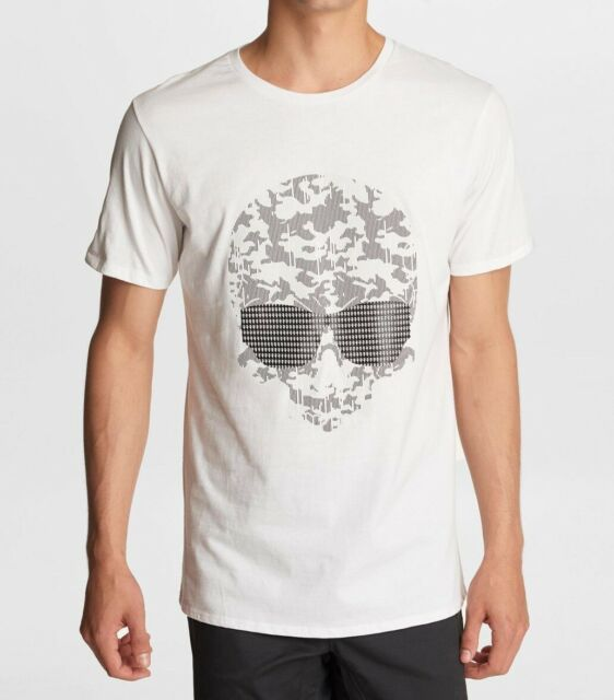 Karl Lagerfeld Mens T-Shirt White Size Medium M Graphic Tee Skeleton $49- #238