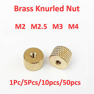 M2 M2.5 M3 M4 Brass Cylindrical Knurled Thumb Nut fo Water Cooling PC Case Model