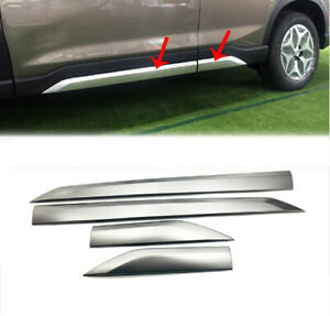 Fits-Subaru-Forester-2019-20-Stainless-Steel-Body-Side-Door-Moulding-Cover-Trim