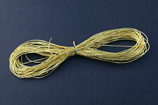 THICK GOLD THREAD 10 METRES,1.3 mm DIA, GOLDWORK, EMBROIDERY, BIG BOLD DESIGNS!