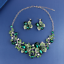 Women-Fashion-Bib-Choker-Chunk-Crystal-Statement-Necklace-Wedding-Jewelry-Set thumbnail 15