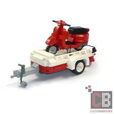 CB CUSTOM MODELLO VESPA SCOOTER CON RIMORCHIO DA LEGO ® pietre ad esempio per 10220 t1