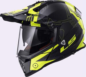 LS2-Pioneer-Dual-Sport-Casco-De-Moto-Amarillo-Todoterreno-Motocross-Choques-moto