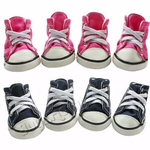 4Pcs-Set-Puppy-Pet-Dog-Cat-Denim-Shoes-Sport-Walk-Casual-Anti-slip-Boots-Sneaker