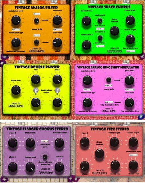 6 VST Guitar  FX Pack  VST Vintage Analog Style Emulations virtual for PC
