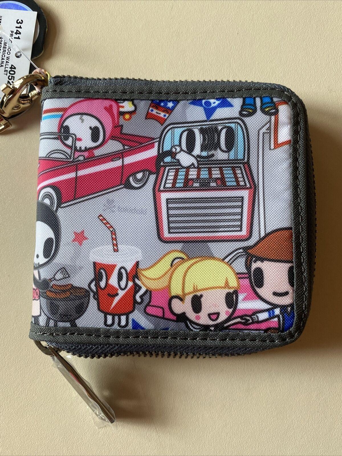 New Tokidoki Grey Print Design Wallet Purse NWT