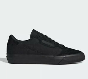Details about Men's Adidas Continental Vulc Shoes Black Sneakers New With  Box