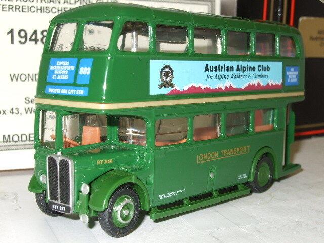 EFE 10121D - 1 76 AEC RT, London Transport Green (Austrian Alpine Club) RT 3148