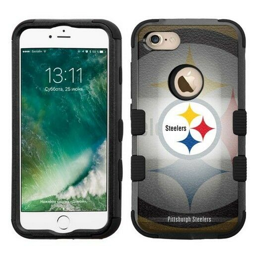 for Apple iPhone 7 Impact Armor Rugged Hybrid Cover Case Pittsburgh  Steelers #B