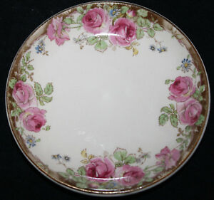 Rare-Royal-Doulton-ENGLISH-ROSE-D6071-Straight-Edged-Pin-Dish-or-Butter-Pat-1940