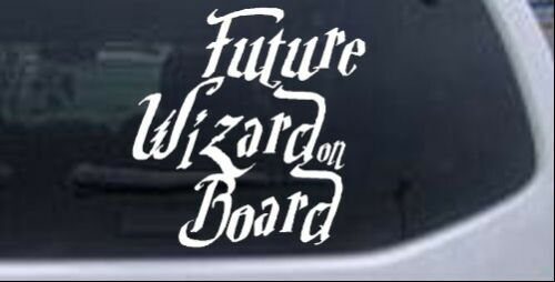Future Wizard Board Baby Board Harry Potter Car Truck Window Decal White 6X5.9