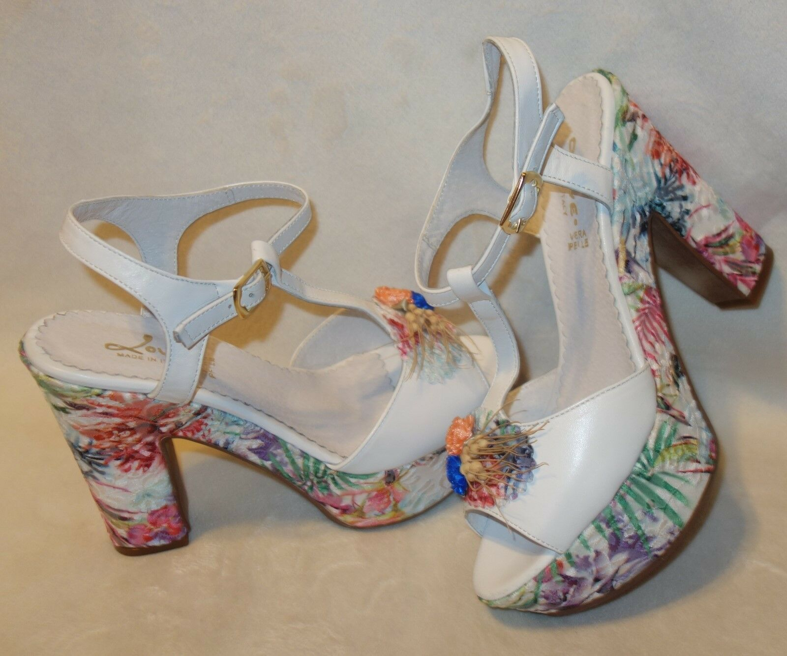 Love made in italy floral Sandales Sandales floral sz 39 new 1fd798