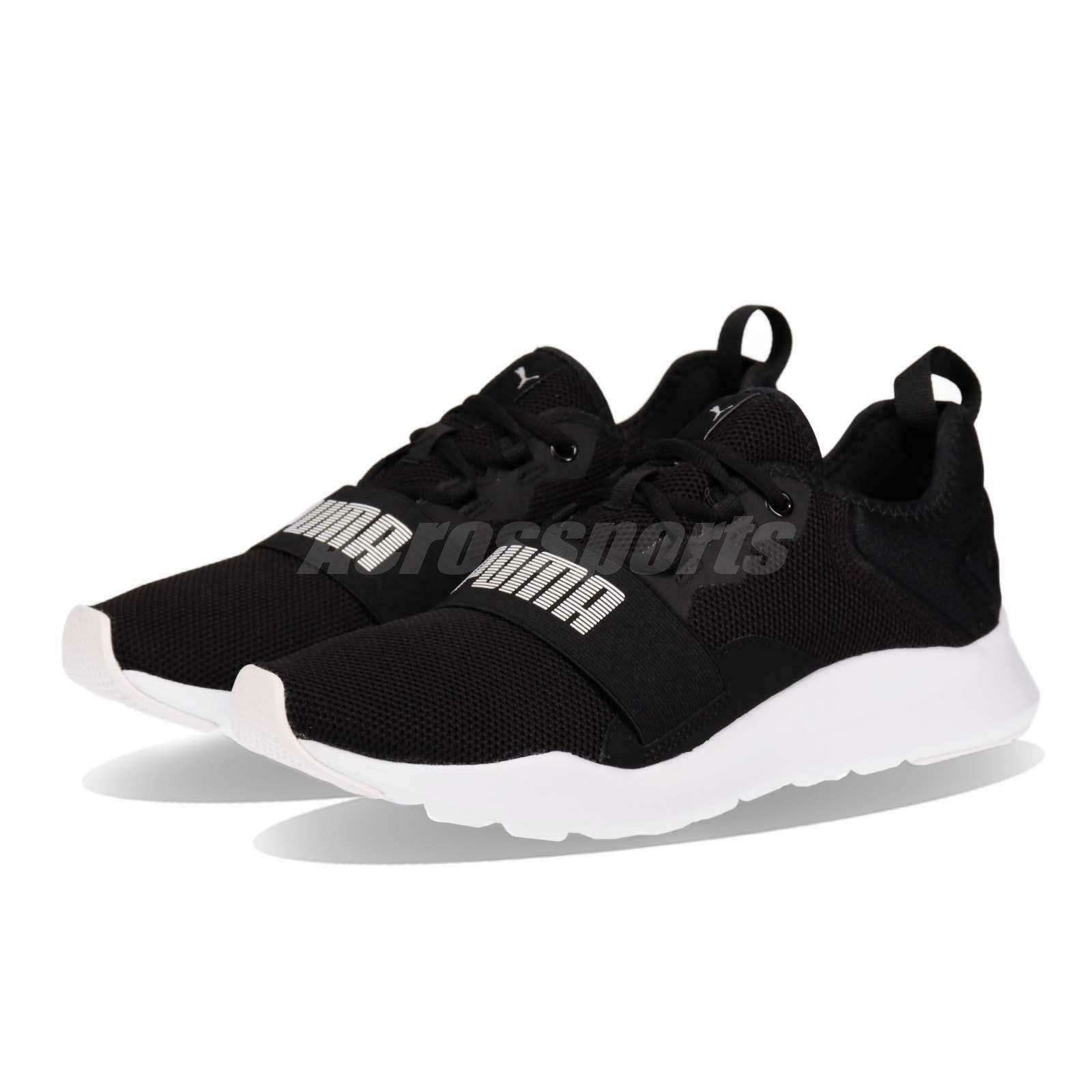 Puma Wired Pro Black White Men Women Running Casual shoes Sneakers 369126-01