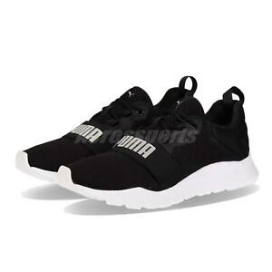 6473b35bb6ef Puma Wired Pro Black White Men Women Running Casual Shoes Sneakers ...