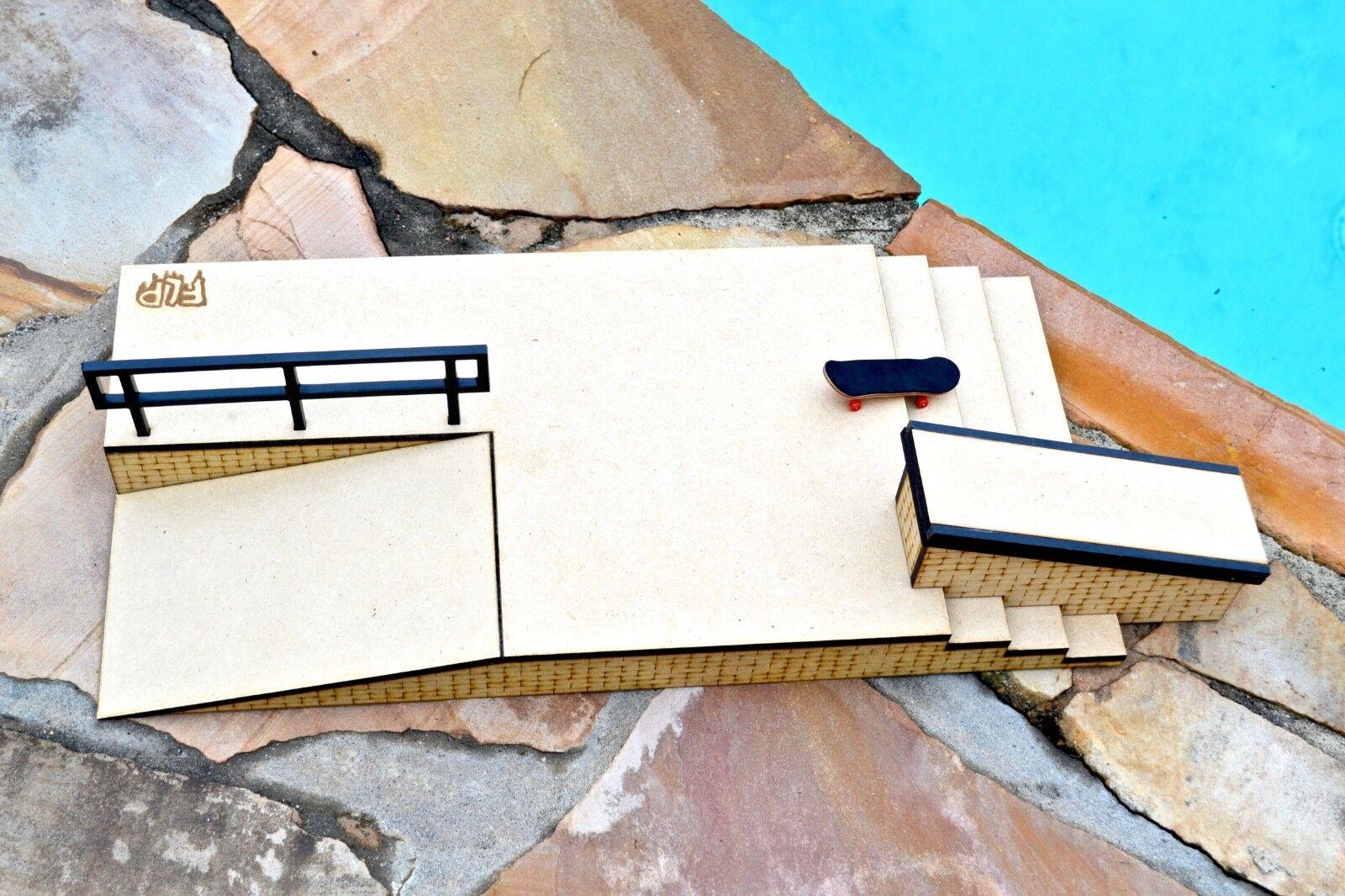 Diapasón rampa obstáculo escalera Conjunto. Doc escaleras con Cocheril de Metal, Caja de Kicker, y