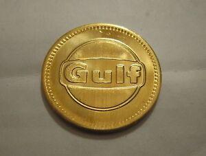 vintage gulf token coin free car wash no cash value advertising promo ebay. Black Bedroom Furniture Sets. Home Design Ideas