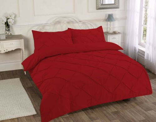Pin tuck Duvet Cover with Pillowcase Quilt Cover Bedding Set,All Size Alford
