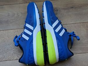 Details about Men's adidas NEO Cloudfoam Flow Blue/White/Yellow Breathable Running Shoes US 11