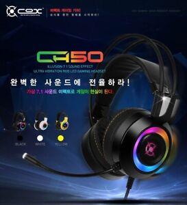 Details about COX CH50 Virtual 7.1 Vibration RGB LED Gaming Headset Headphones Earphones USB