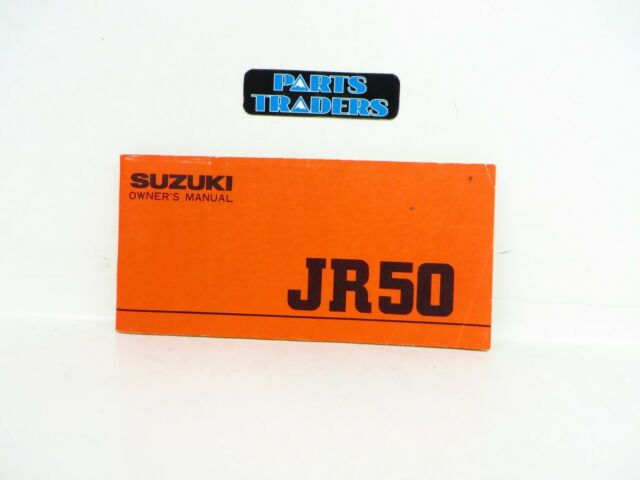 Oem Genuine Suzuki Owner U0026 39 S Manual With Wiring Diagram Jr50