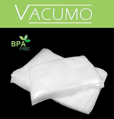 VACUMO S-VAC 250 Stk 18 x 35 cm Vakuumbeutel Gefrierbeutel Vakuumfolie goffriert