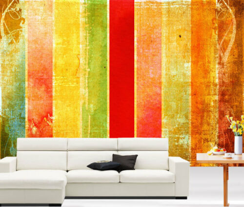 Old Time Vintage Abstract Red 3D Full Wall Mural Photo Wallpaper Home Decal Kids