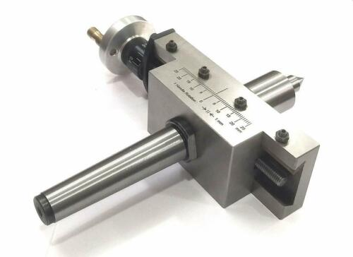 MT3 NEW IMPROVED TAPER TURNING ATTACHMENT WITH REVOLVING LIVE CENTER-