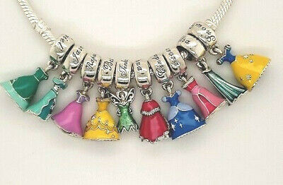 Disney Pandora silver 925 assorted Princess dresses dangle slide charm NEW  | eBay