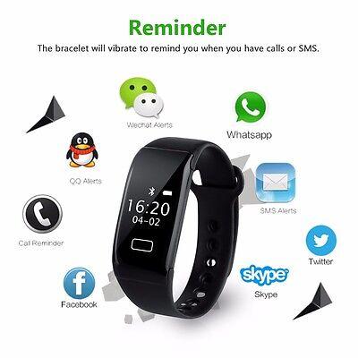 OLED Bluetooth 4.0 Fitness Armband Activity Tracker für Android IOS w/Vibration