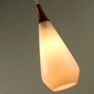 Pendel Leuchte Glas Tropfen Hänge Lampe Vintage Drop Shape Lamp Denmark 50er