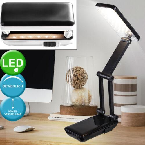 Design LED Tisch Lampe schwarz Wohn Schlaf Zimmer Lese Nacht Licht verstellbar