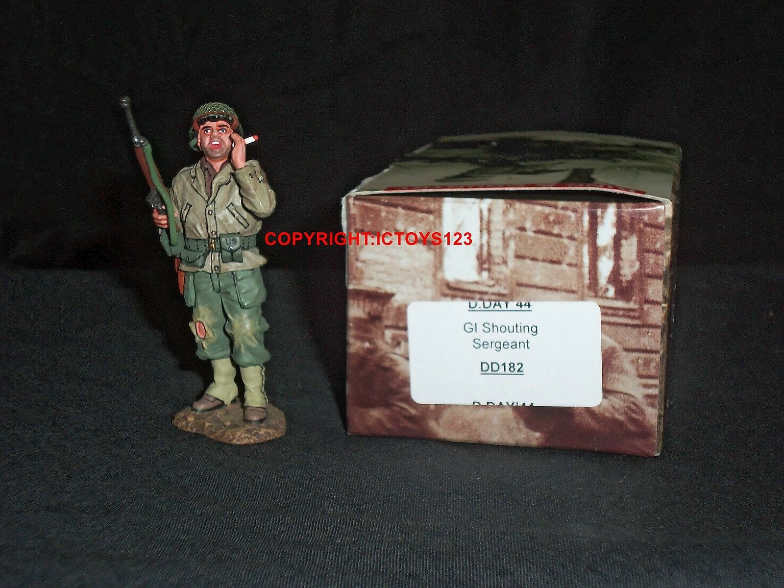 KING AND COUNTRY DD182 DDAY44 GI SERGEANT SHOUTING METAL TOY SOLDIER FIGURE SET