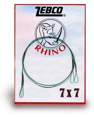 Zebco Rhino Edelstahlvorfach 7x7 Stahlvorfach mit Schlaufen 2 Stück