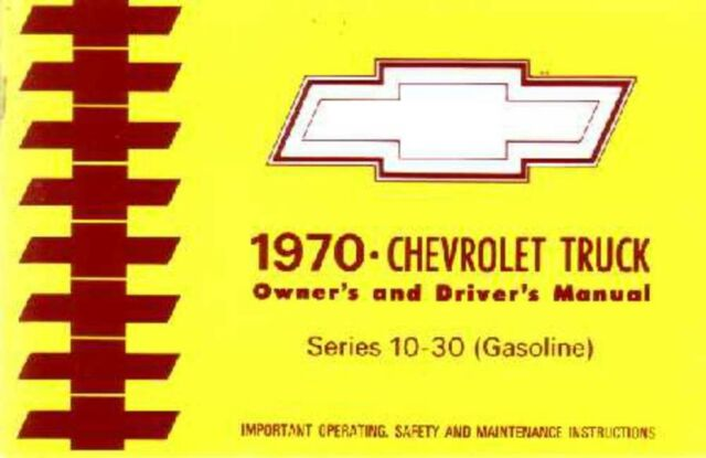1970 Chevrolet Corvette Owners Manual User Guide Reference Operator Book OEM