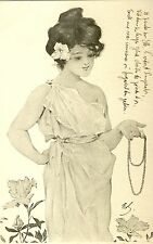 "Ak 1900 Raphael Kirchner ""Maid of Athens"" VIENNE Jugendstil art nouveau art deco"